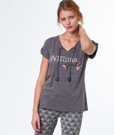 Message t-shirt gray.