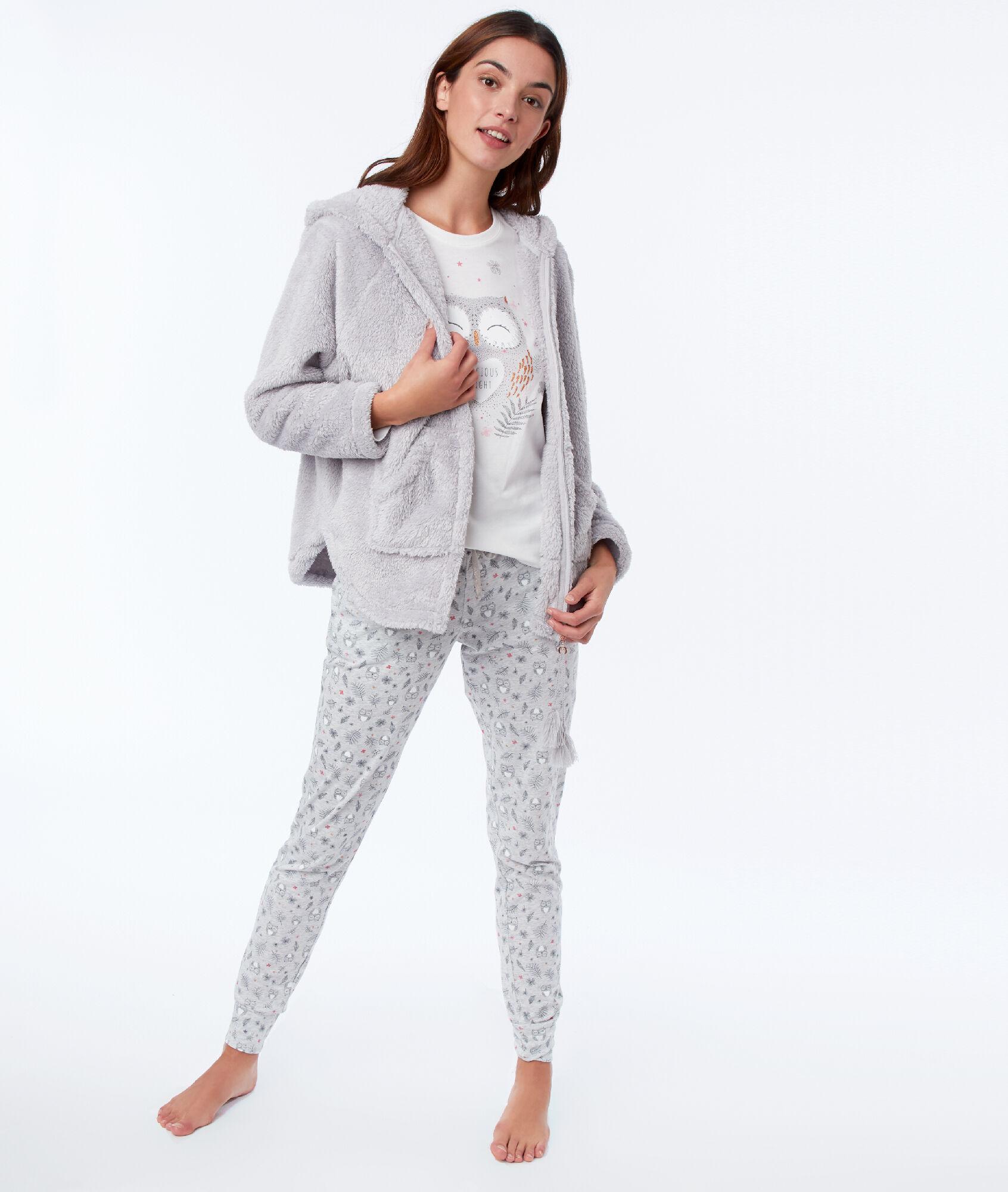 Three Piece Pajamas With Owl Etam
