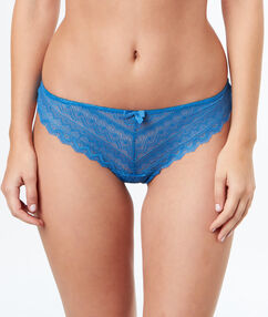 All-lace tanga blue.
