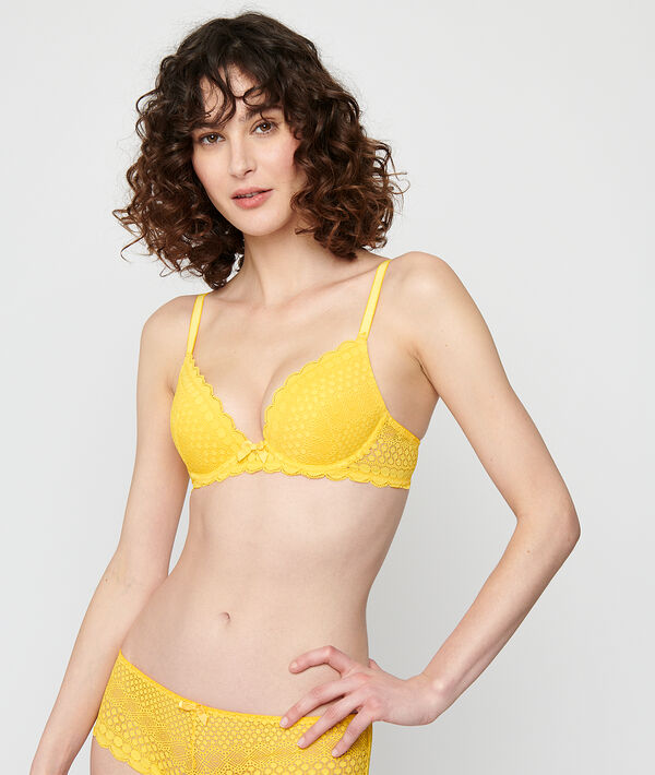 Bra No 2 - plunging push up bra;${refinementColor}