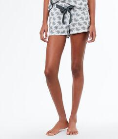 Printed shorts khaki.