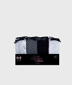 Pack of 4 knickers black.