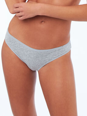Cotton briefs gray.