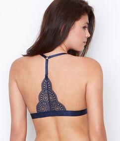 Triangle bra blue.