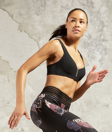 Sports bra - medium support black.