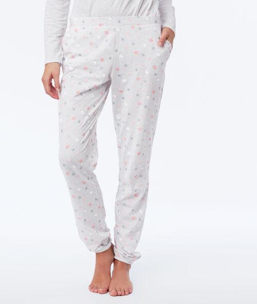 Three-piece sheep print pyjama set