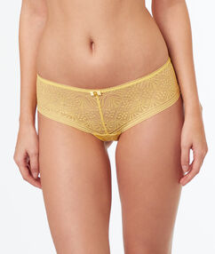 Lace shortys yellow.