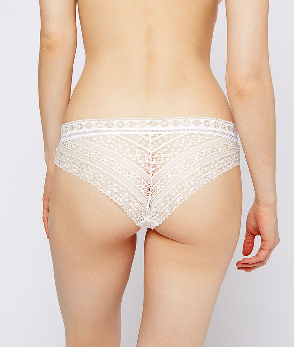 Graphic lace hipster