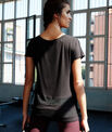 T-shirt with fishnet panel