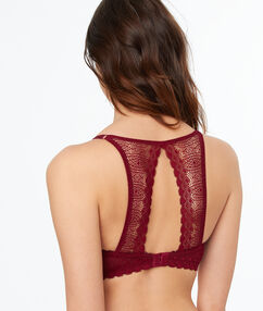 Bra no. 5 - classic padded lace bra with racer back plum.