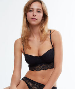 Strapless bra, removable straps charcoal.