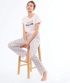 Seahorse print trousers white.