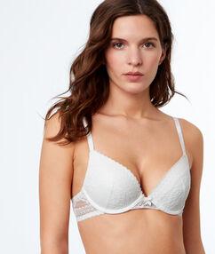 Lace push-up bra off-white.