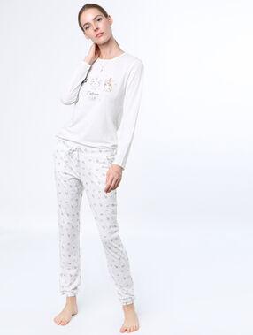 Unicorn top printed white.