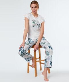 Printed trouser white.