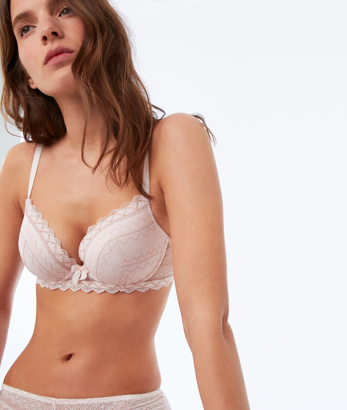 Reggiseno n. 1 - magic up rosa polvere.
