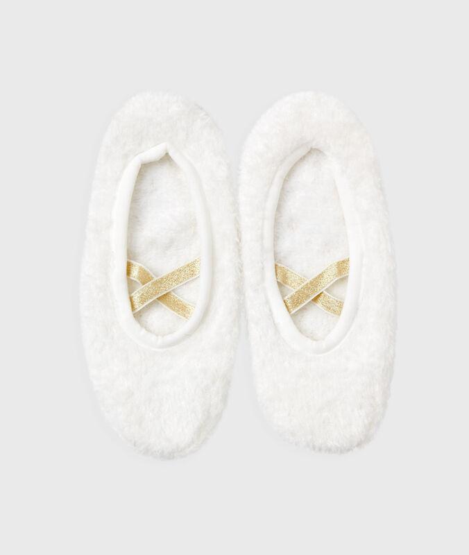 Pantofole morbide bianco.
