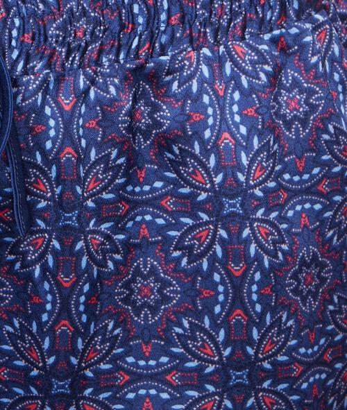 Printed satine pyjama pants