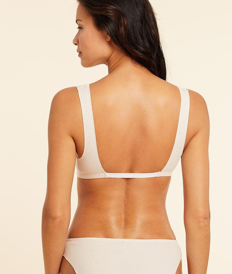 Ribbed non-wired bra;${refinementColor}