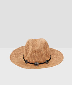 Beach hat brown.