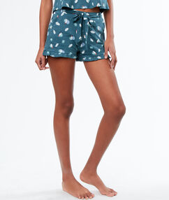 Printed pyjamashort blue.