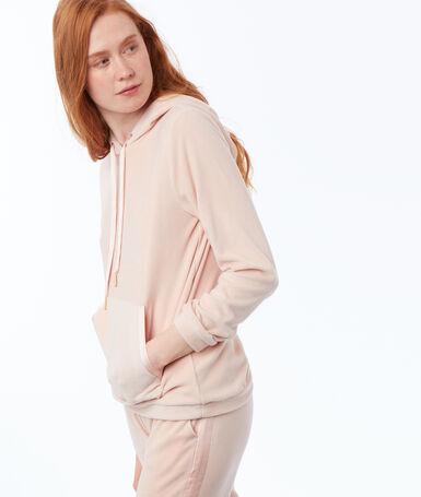 Velvet homewear sweatshirt pink.
