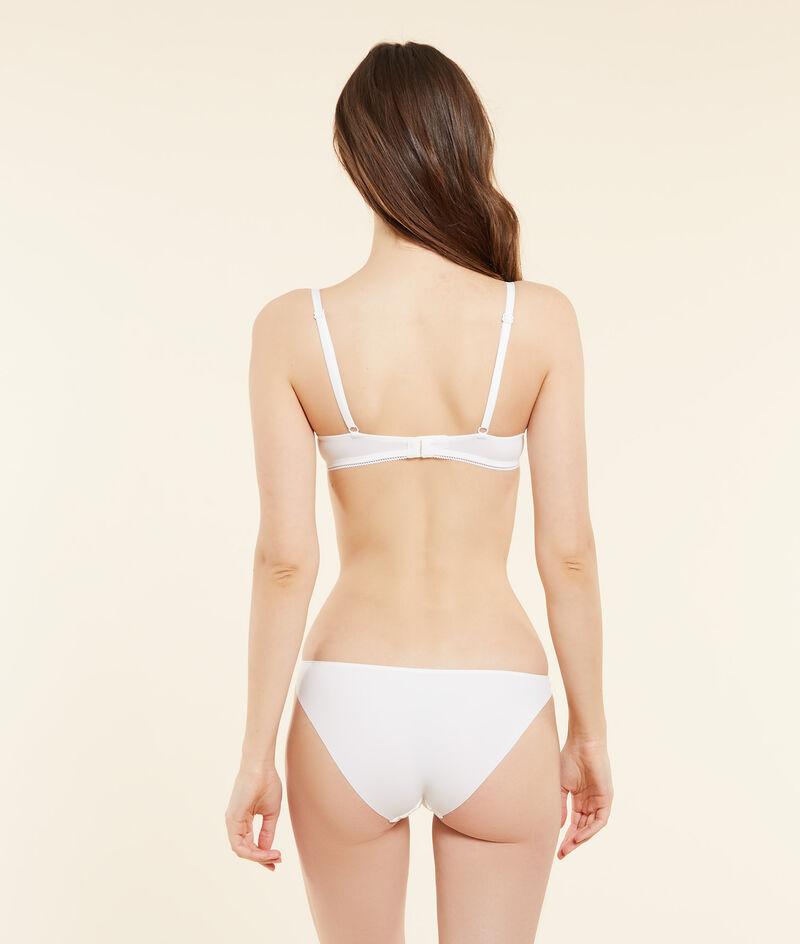 Embroidered tulle bikini briefs;${refinementColor}