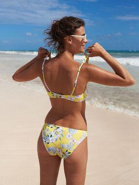 Floral bikini bottom yellow.