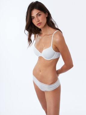Micro padded demi-cup white.