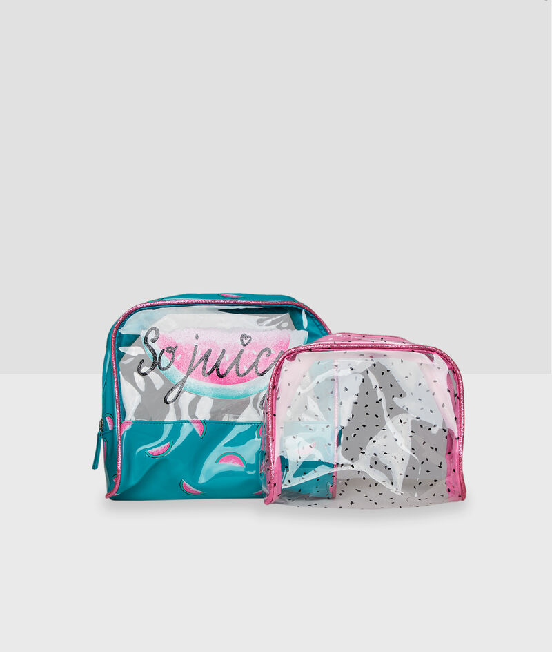 2in1 clear toiletry bag;${refinementColor}