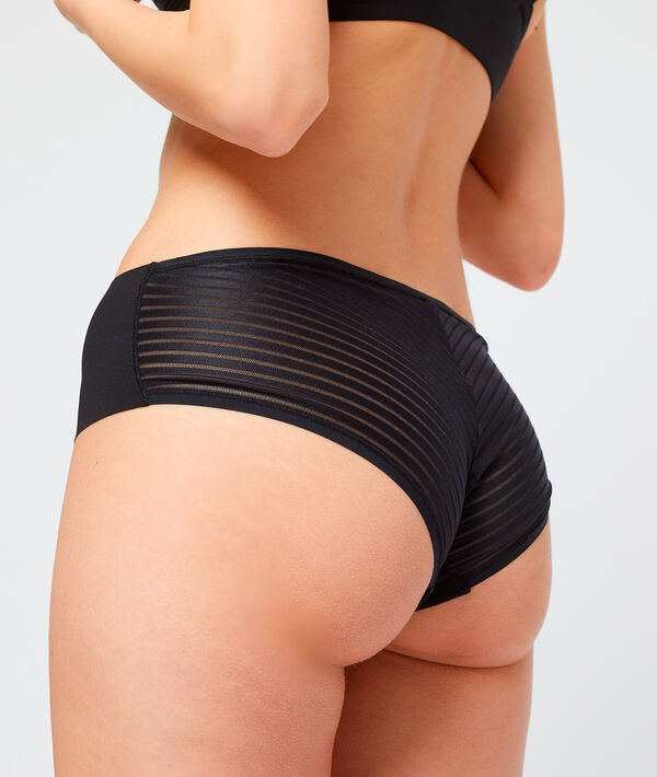 Microfibre shorty with tulle detailing;${refinementColor}