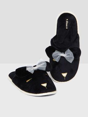 Slippers black.