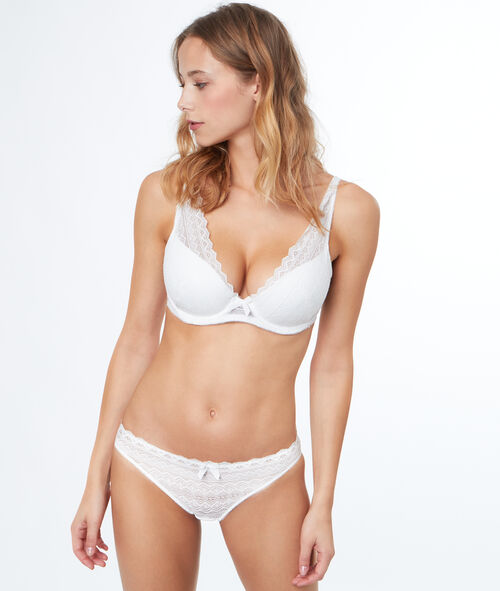 Lace padded triangle bra, D cup
