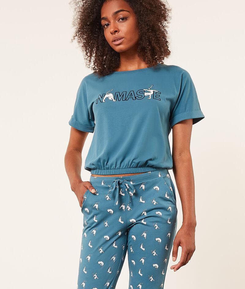 'namaste' short-sleeved top;${refinementColor}