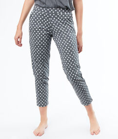 Little flower print trousers grau.
