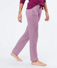 Pyjama pants burgundy.