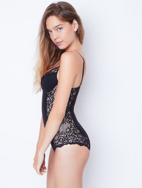 Lace shapewear body black.