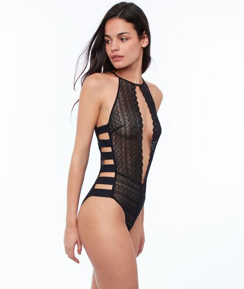 Openwork lace bodysuit