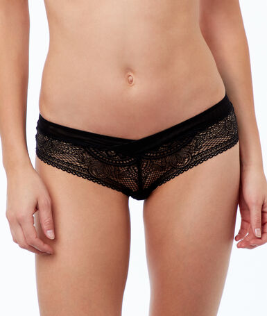 All-lace microshorts black.