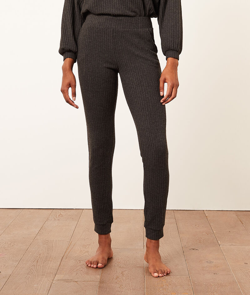 Ribbed Pajama Pants;${refinementColor}