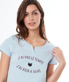Message t-shirt blue.