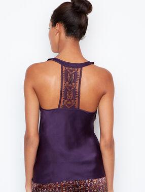 Satine top purple.