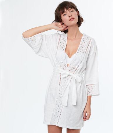 Kimono negligee white.