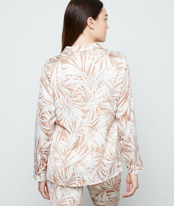 pyjamas shirt in foliage print ;${refinementColor}