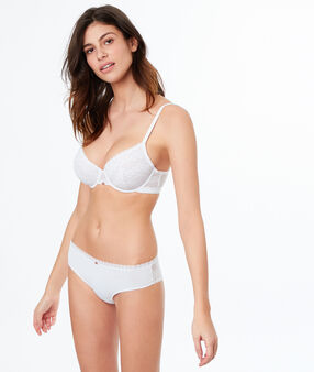 Micro and lace bra white.