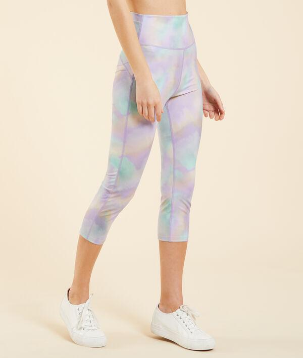 Short print sports leggings;${refinementColor}