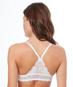 Lace push up bra, racer back off-white.