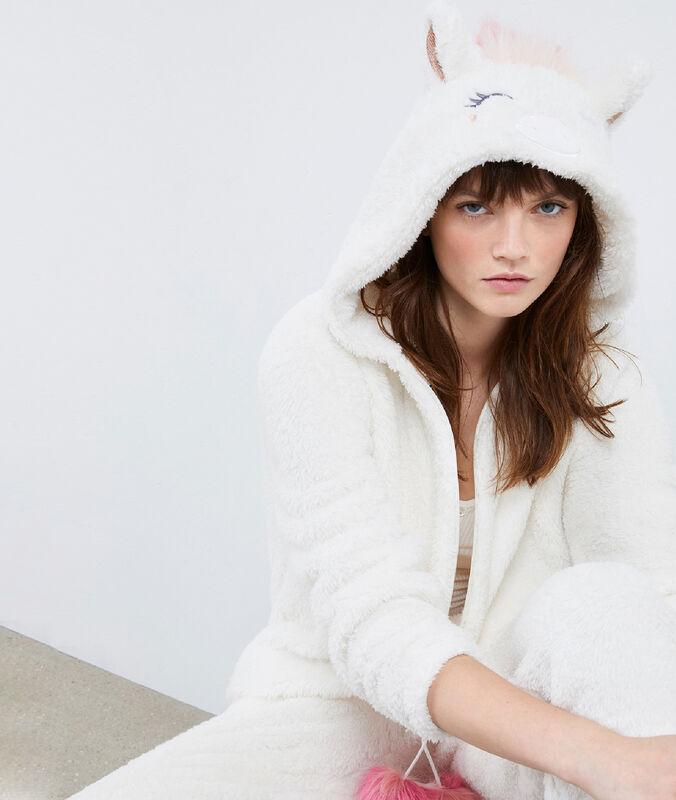 Combinaison pyjama poney ecru.