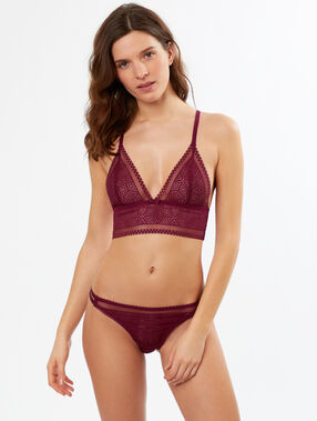 Graphic lace knickers purple.