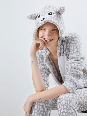 Deer onesie gray.